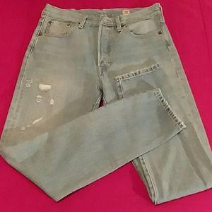 Levi's 501Skinny Ltd. Ed. distressed jeans